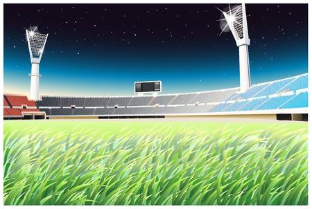 Illustratie van een leeg stadion Vector Illustratie