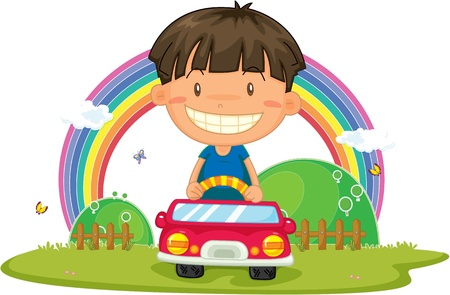 illustration of boy on white Stock Vector - 13158377