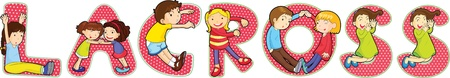 children s: illustration of cartoon alphabets on white Illustration