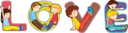 illustration of cartoon alphabets on white Stock Vector - 13158411