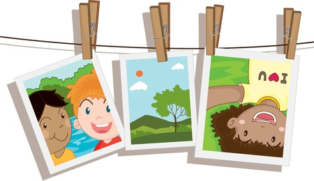 illustration of photos on white Stock Vector - 13158269