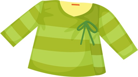 illustration of apparel on white Vector
