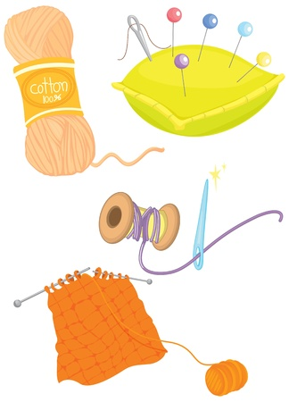 illustration of various objects on white Stock Vector - 13158248