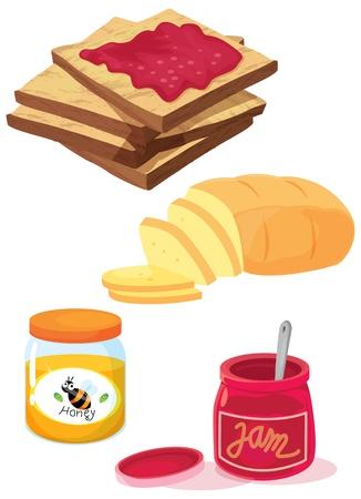 food container: ilustraci�n de diversos objetos sobre un fondo blanco