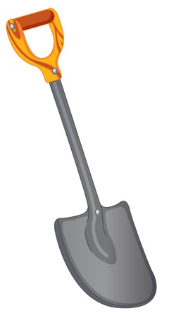 hoe: illustration of gardening tool on white