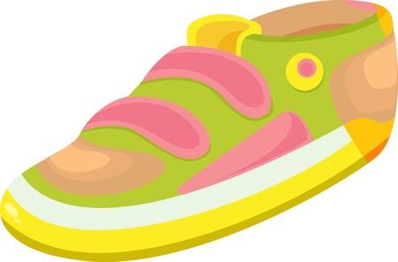 illustration of shoe on white