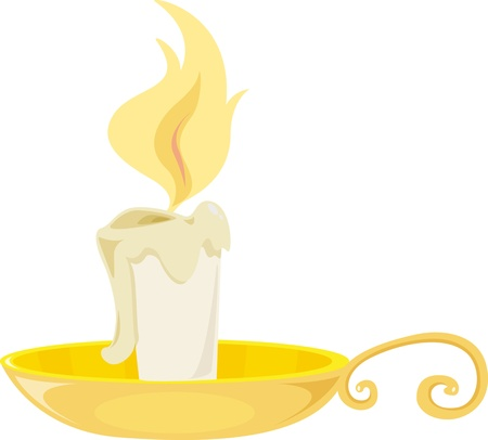 white candle: illustration of candle on white Illustration