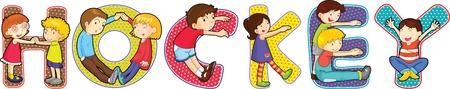illustration of cartoon alphabets on white Stock Vector - 13170976