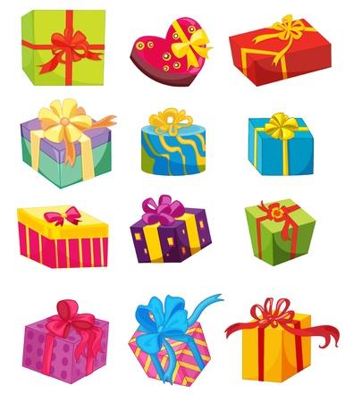 cajas navide�as: Ilustraci�n de regalos en blanco