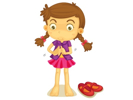 illustration of a girl getting dressed royalty free cliparts rh 123rf com child getting dressed clipart child getting dressed clipart
