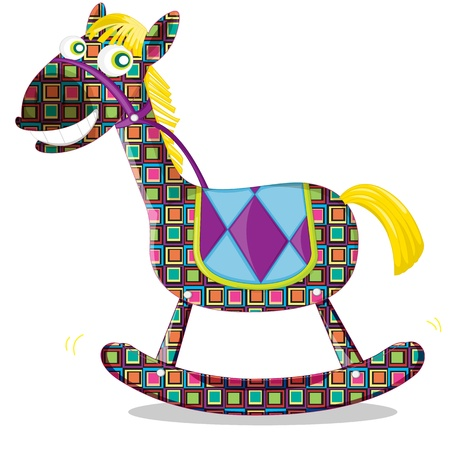 illustration of rocking toy horse Vector
