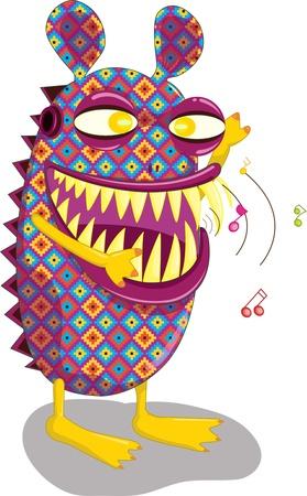 Un monstre boogies intéressant de couleur à la musique