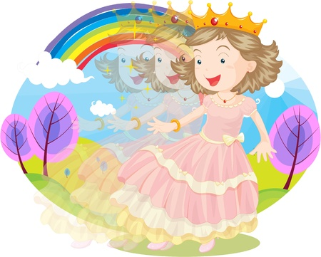 Princess in her natural kingdom Vector