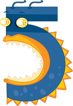 illustration of cartoon number Stock Vector - 13189218