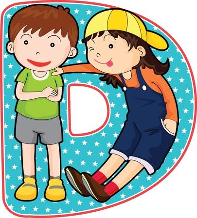 escuela infantil: Todas las letras del alfabeto AZ en la cartera de