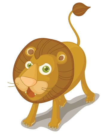 Illustration of lion on white Stock Vector - 13189289
