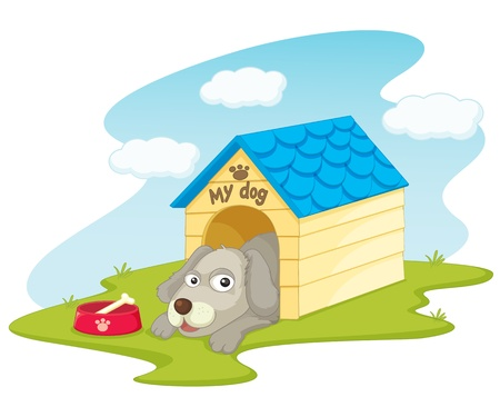 illustration of a dog house on white Vector