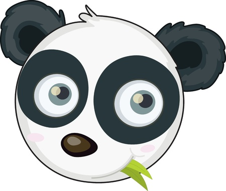 illustration of panda face on white Stock Vector - 13189248