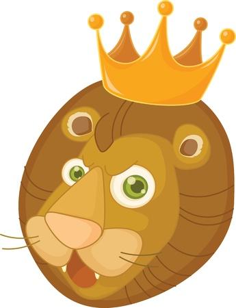 illustration of lion face on white Stock Vector - 13189254
