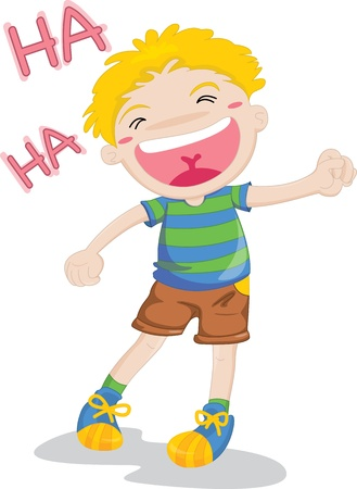 people laughing: illustration of laughing boy