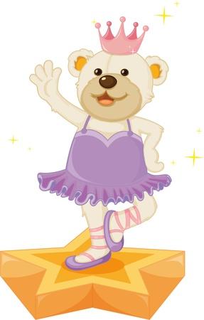 tanzen cartoon: Illustration der Bär auf weißem