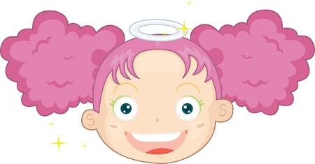 illustration of fairy on white