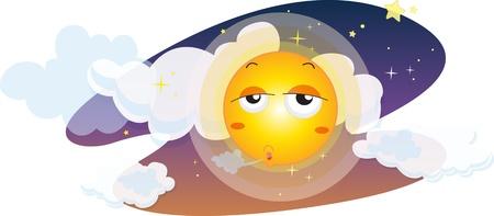 Illustration of moon on white Stock Vector - 13190400