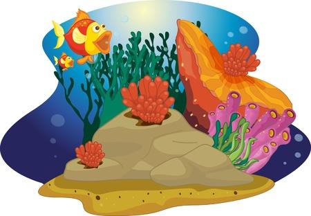 Vis monden wow als het ziet grote plant