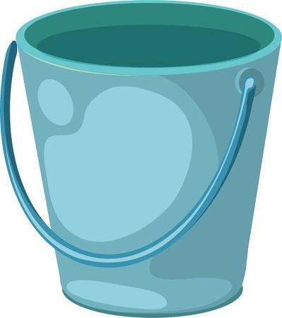 emmer water: Een close up van een blauwe emmer Stock Illustratie