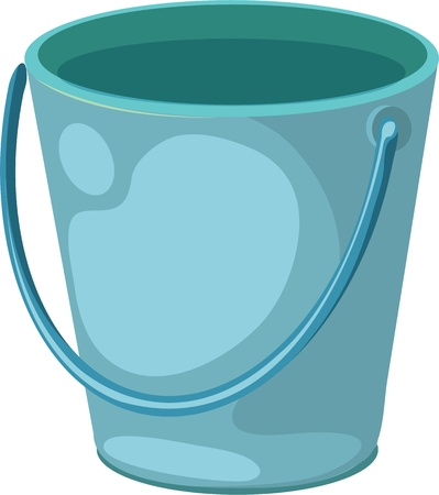 Una stretta di un secchio blu Vettoriali