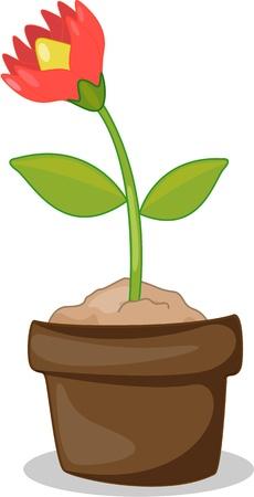 ollas de barro: ilustración de las macetas sobre un fondo blanco