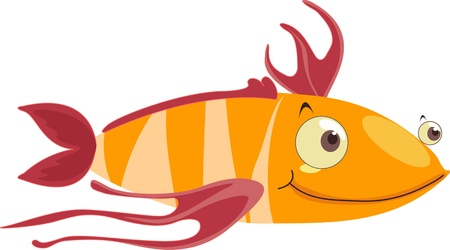 Fish with stringy fins Vector