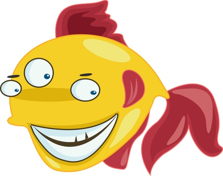 A fish with three eyes Vector