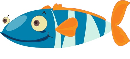 Fish with extremely good posture Stock Vector - 13206220