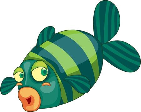 Illustration of  a cartoon fish on white Vector