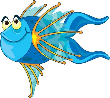 Illustration of  a cartoon fish on white Stock Vector - 13206775