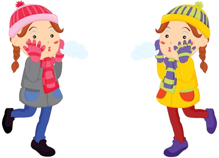 two girls: Illustration of two