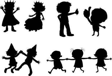 illustration of images of kids on white Stock Vector - 13206210