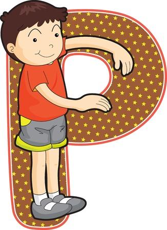 Las letras del alfabeto (AZ toda la cartera) Ilustración de vector