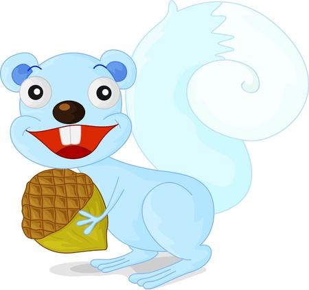 acorn squirrel: illustration of a squirrel with acorn Illustration