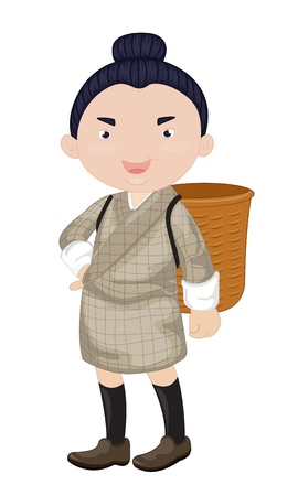 knee sock: illustration of a boy wearing a basket