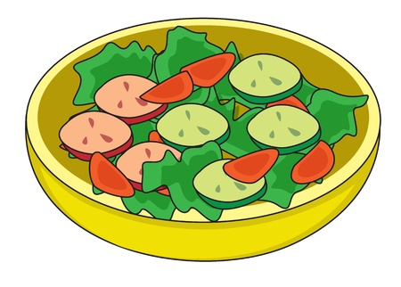 healty food: Illustration of dish containing slices