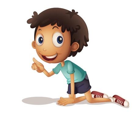 arrodillarse: Ilustración de una joven arrodillada en el suelo Vectores