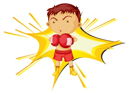 Illustration of a boxing boy Vector