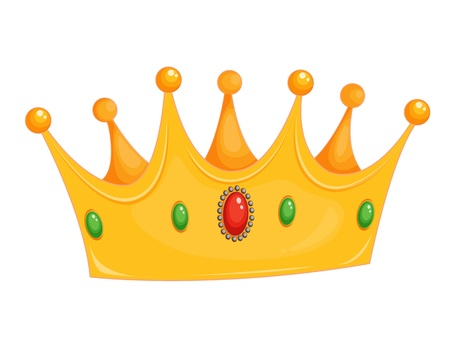 corona reina: Ilustración de una corona en blanco Vectores