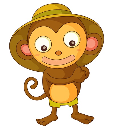 Illustration of a safari monkey Vector