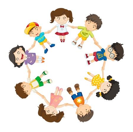 playmates: Ilustraci�n de un anillo de los ni�os Vectores