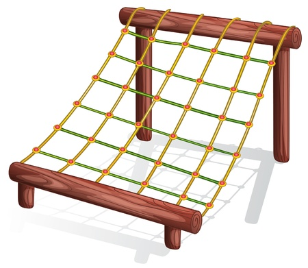 Illustration of a rope course Vector