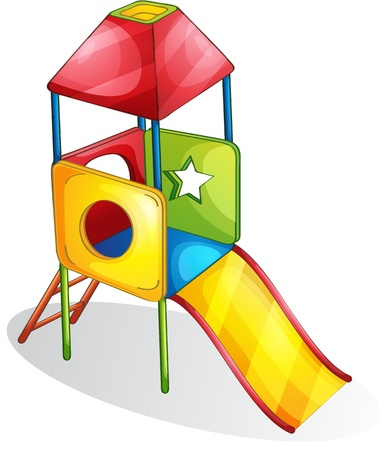playgrounds: Illustration of a colorful slide Illustration