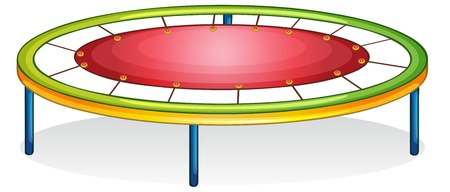 trampoline: Isolated illustration of play equipment - trampoline